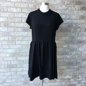 NWT Xhilaration Little Black Textured Dress XL